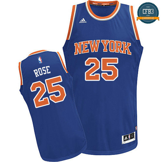 cfb3 camisetas Derrick Rose, New York Knicks [Azul]