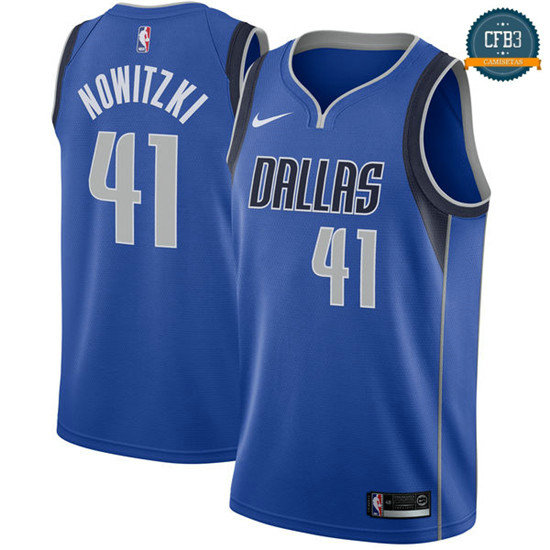 cfb3 camisetas Dirk Nowitzki, Dallas Mavericks - Icon