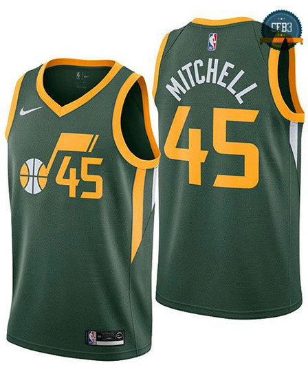 cfb3 camisetas Donovan Mitchell, Utah Jazz - Earned Edition