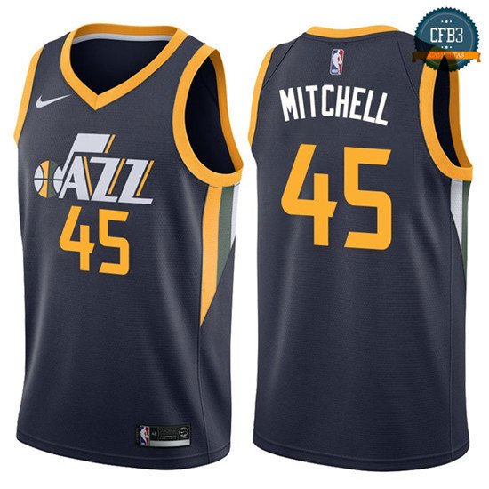 cfb3 camisetas Donovan Mitchell, Utah Jazz - Icon