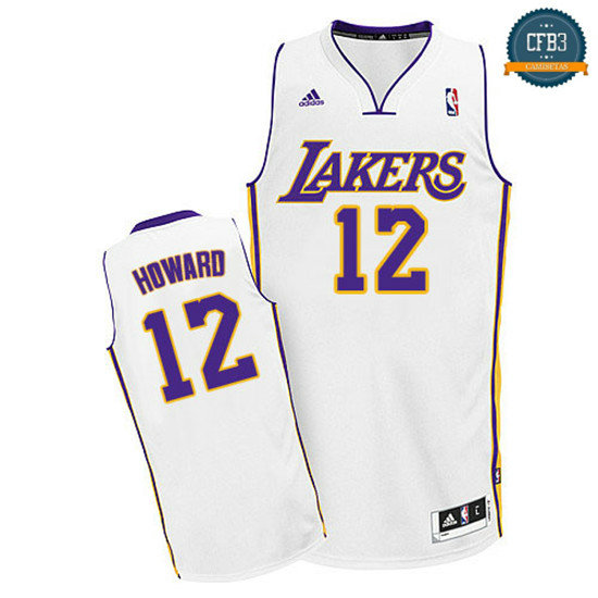 cfb3 camisetas Dwight Howard, Los Angeles Lakers [Blanco]