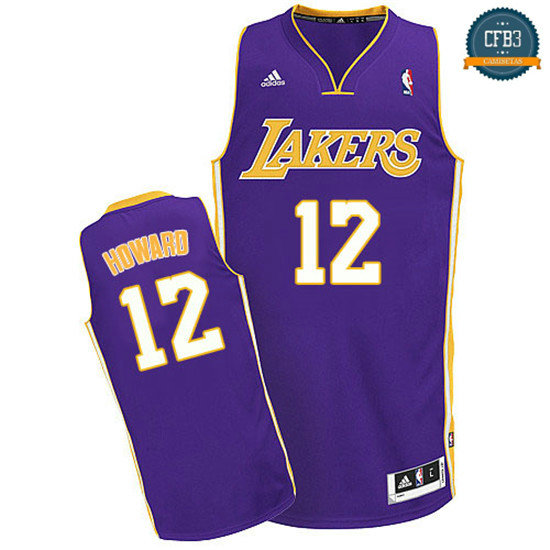 cfb3 camisetas Dwight Howard, Los Angeles Lakers [Morada]