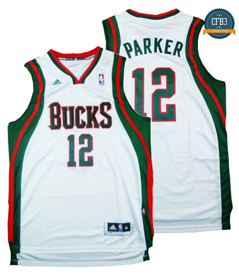 cfb3 camisetas Jabari Parker, Milwaukee Bucks - Blanco