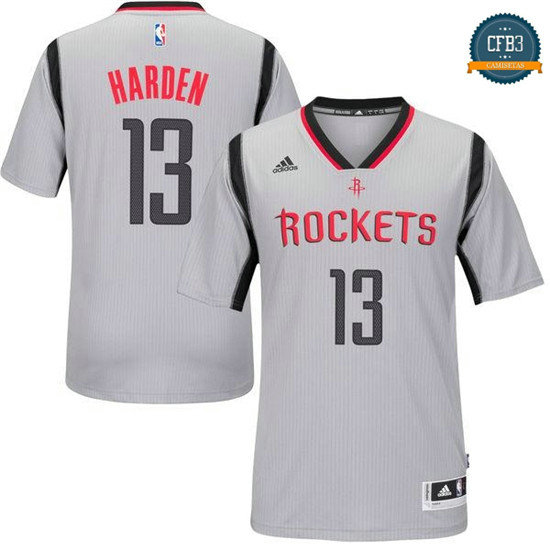 cfb3 camisetas James Harden, Houston Rockets [Alternate Gray]
