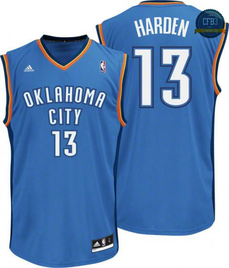 cfb3 camisetas James Harden Oklahoma City Thunder [Azul]