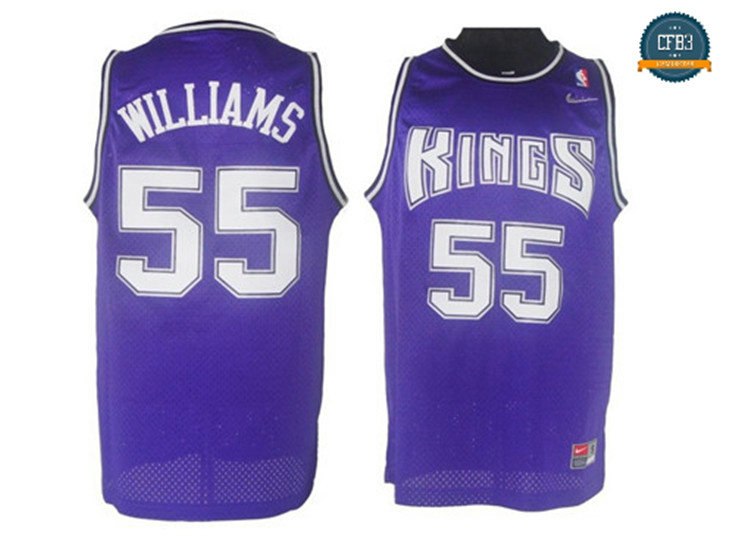 cfb3 camisetas Jason Williams, Sacramento Kings - Purple
