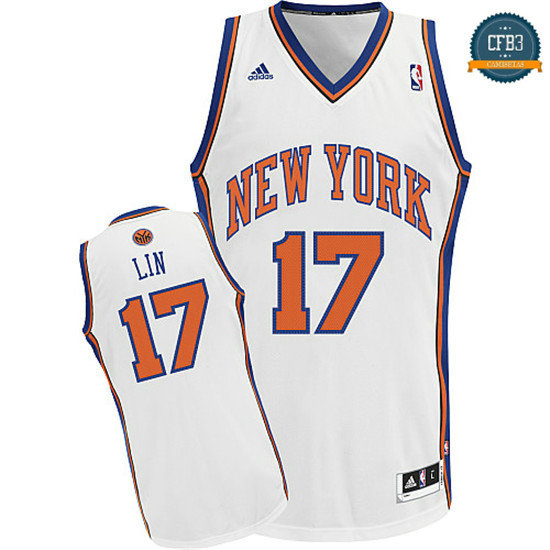 cfb3 camisetas Jeremy Lin, New York Knicks [Blanco]