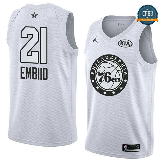 cfb3 camisetas Joel Embiid - 2018 All-Star Blanco