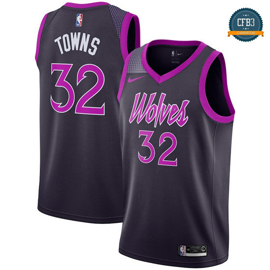 cfb3 camisetas Karl-Anthony Towns, Minnesota Timberwolves 2018/19 - City Edition