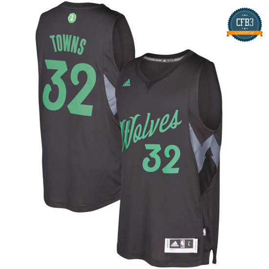 cfb3 camisetas Karl-Anthony Towns, Minnesota Timberwolves - Christmas '17