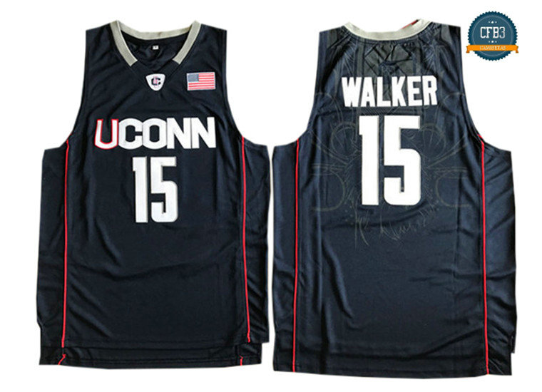 cfb3 camisetas Kemba Walker, Connecticut Huskies [Navy Azul]