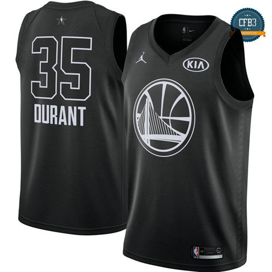 cfb3 camisetas Kevin Durant - 2018 All-Star Negro