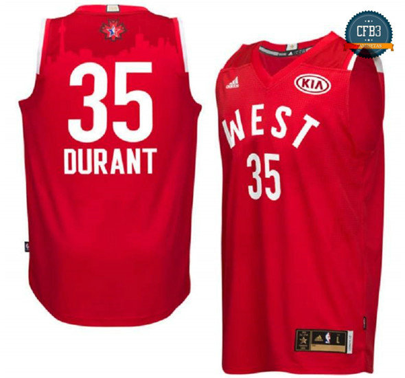 cfb3 camisetas Kevin Durant, All-Star 2016