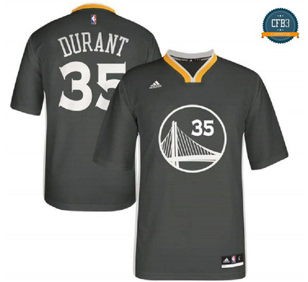 cfb3 camisetas Kevin Durant, Golden State Warriors [Negro]