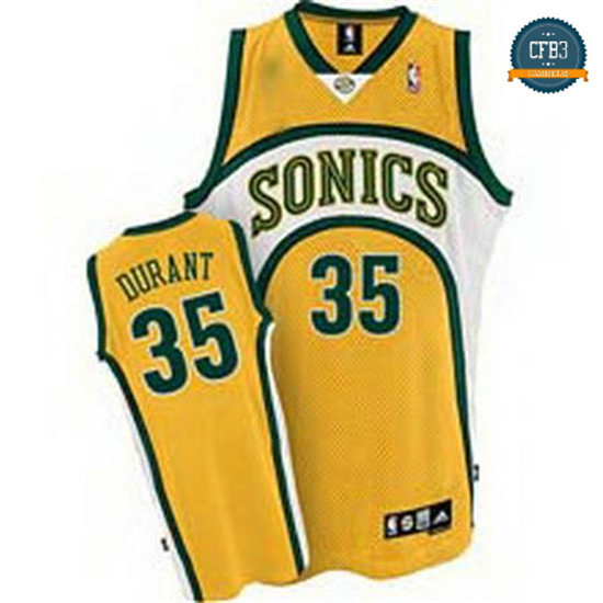 cfb3 camisetas Kevin Durant, Seattle SuperSonics [Amarillo]