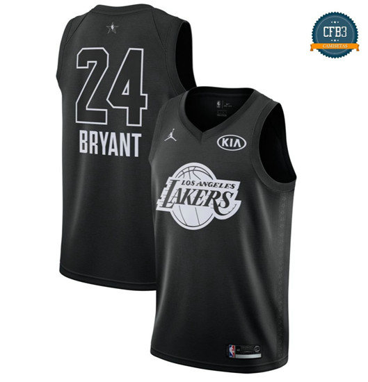 cfb3 camisetas Kobe Bryant - 2018 All-Star Negro