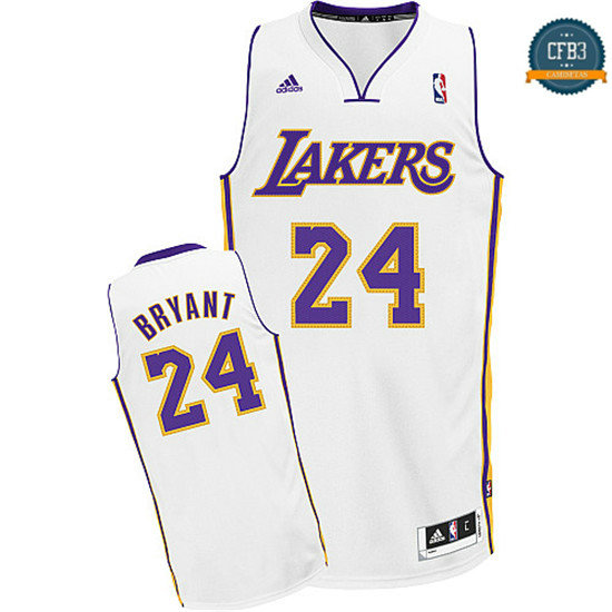 cfb3 camisetas Kobe Bryant, Los Angeles Lakers [Blanco]