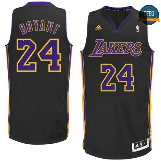 cfb3 camisetas Kobe Bryant, Los Angeles Lakers [Negra]