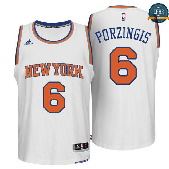 cfb3 camisetas Kristaps Porzingis, New York Knicks [Blanco]