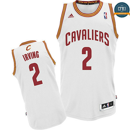 cfb3 camisetas Kyrie Irving, Cleveland Cavaliers [Blanco]