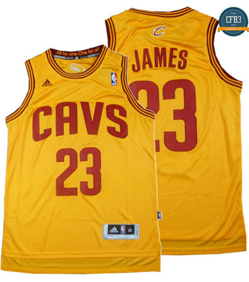 cfb3 camisetas LeBron James, Cleveland Cavaliers - Classic Alternate