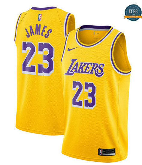 cfb3 camisetas LeBron James, Los Angeles Lakers 2018/19 - Icon