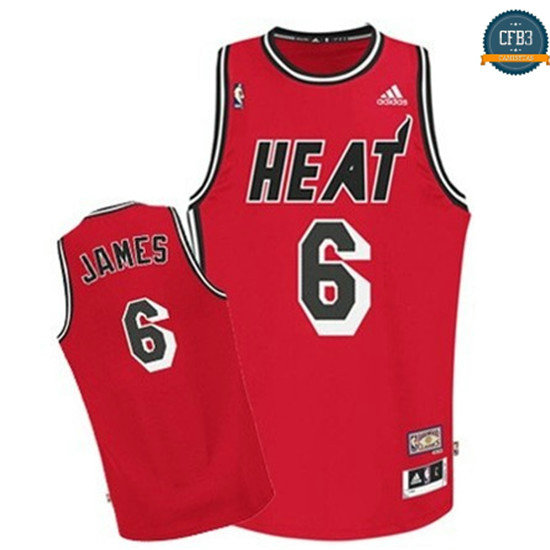 cfb3 camisetas Lebron James, Miami Heat [RETRO]