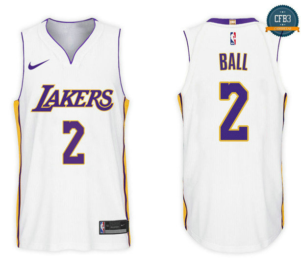 cfb3 camisetas Lonzo Ball, Los Angeles Lakers - Association
