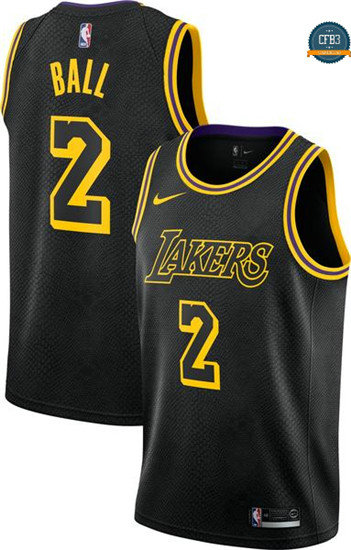 cfb3 camisetas Lonzo Ball, Los Angeles Lakers - City Edition