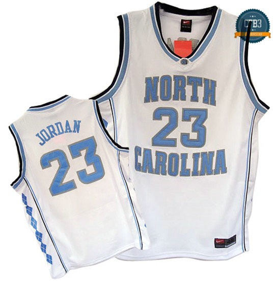 cfb3 camisetas Michael Jordan, North Carolina [Blanco]