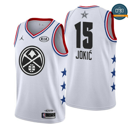 cfb3 camisetas Nikola Jokić - 2019 All-Star Blanco