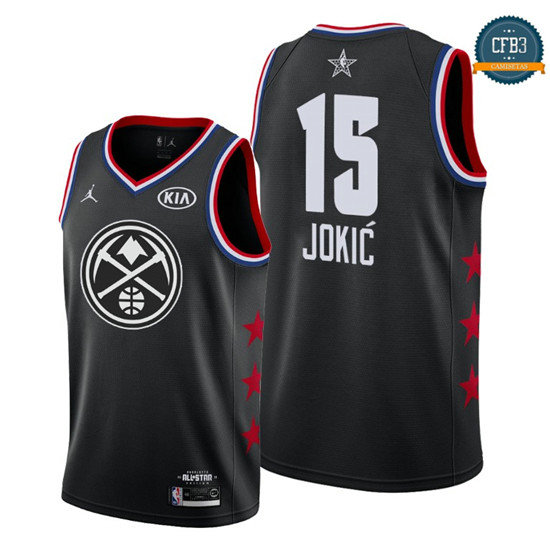 cfb3 camisetas Nikola Jokić - 2019 All-Star Negro