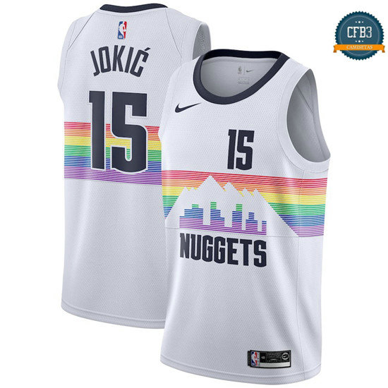 cfb3 camisetas Nikola Jokic, Denver Nuggets 2018/19 - City Edition