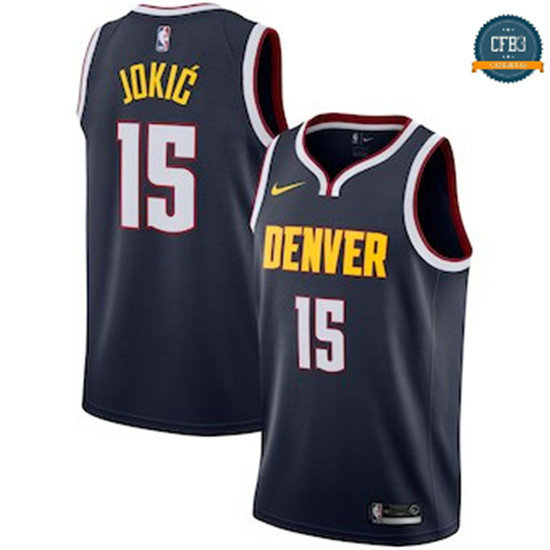 cfb3 camisetas Nikola Jokic, Denver Nuggets 2018/19 - Icon