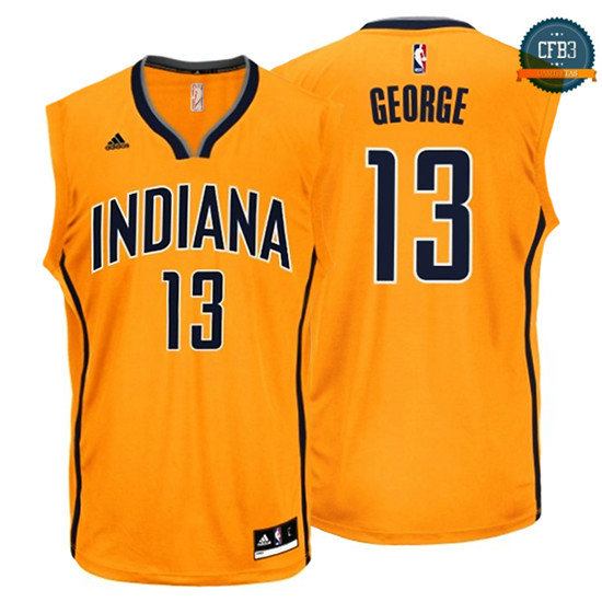 cfb3 camisetas Paul George, Indiana Pacers [Amarilla]