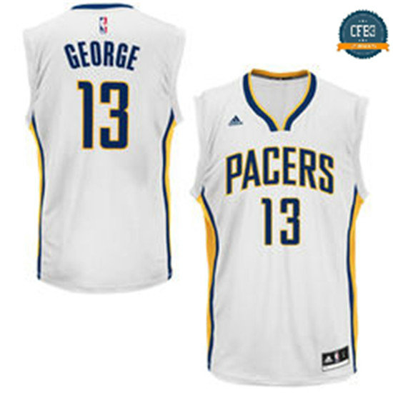 cfb3 camisetas Paul George, Indiana Pacers [Azul]