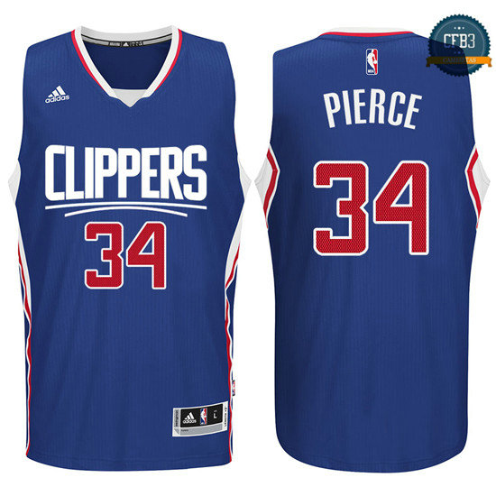 cfb3 camisetas Paul Pierce, Los Angeles Clippers 2015 - Azul