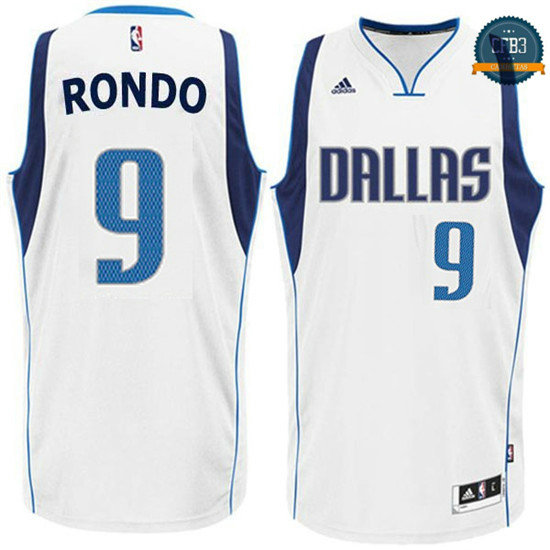 cfb3 camisetas Rajon Rondo, Dallas Mavericks - Blanco