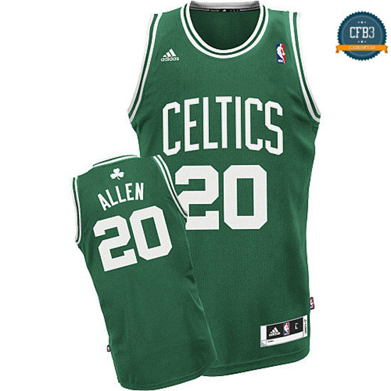 cfb3 camisetas Ray Allen Boston Celtics [Verde y blanca]