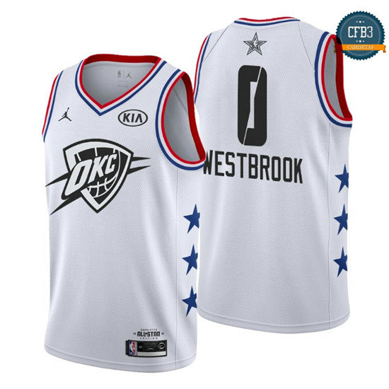cfb3 camisetas Russell Westbrook - 2019 All-Star Blanco