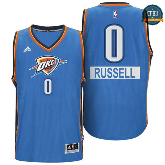 cfb3 camisetas Russell Westbrook, OKC - Christmas Day