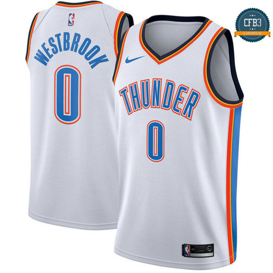 cfb3 camisetas Russell Westbrook, Oklahoma City Thunder - Association