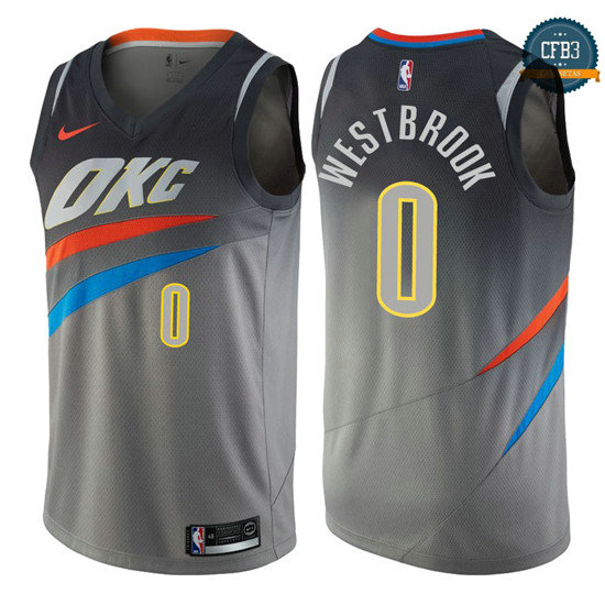 cfb3 camisetas Russell Westbrook, Oklahoma City Thunder - City Edition