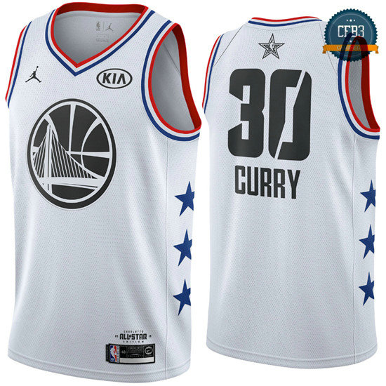 cfb3 camisetas Stephen Curry - 2019 All-Star Blanco