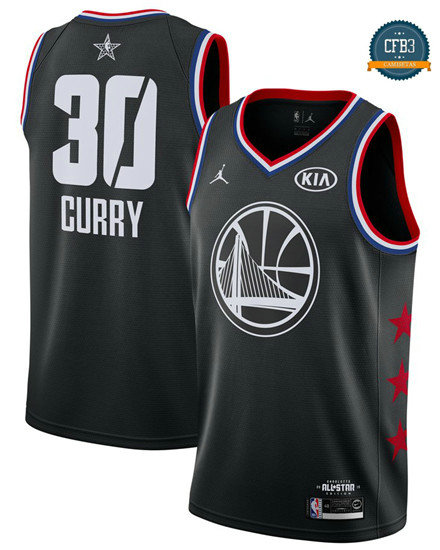 cfb3 camisetas Stephen Curry - 2019 All-Star Negro