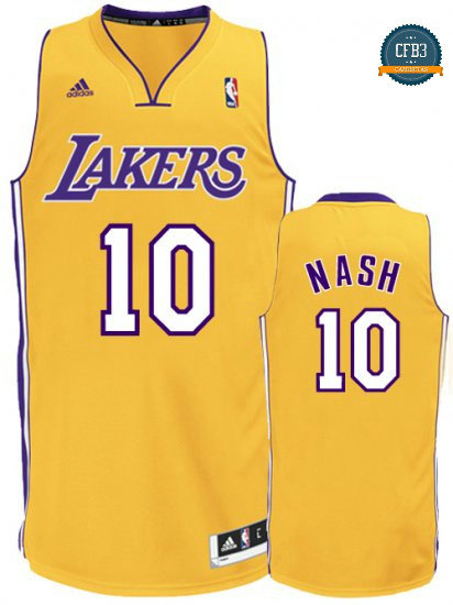 cfb3 camisetas Steve Nash, Los Angeles Lakers [Dorada]