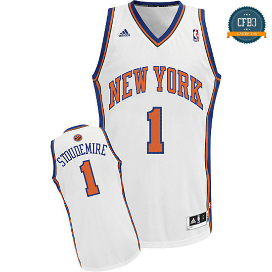 cfb3 camisetas Stoudemire, New York Knicks [Blanca]