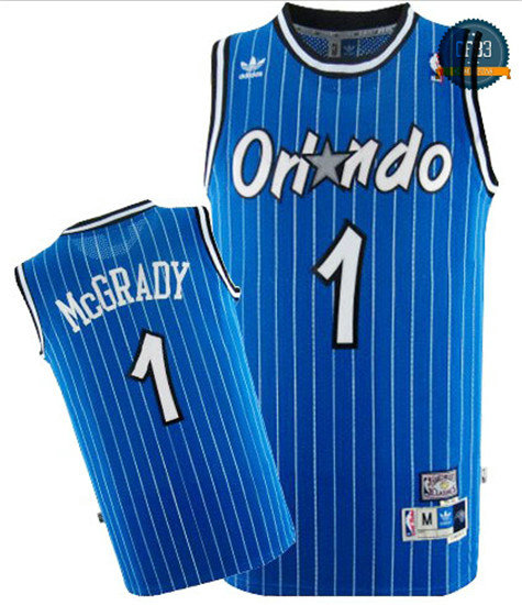 cfb3 camisetas Tracy McGrady, Orlando Magic [Azul]