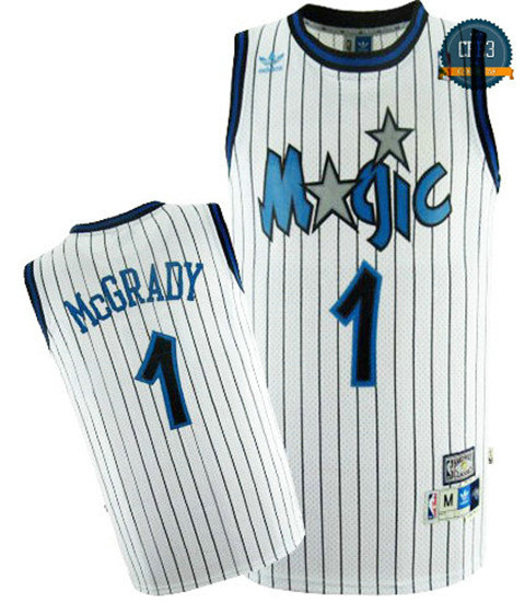 cfb3 camisetas Tracy McGrady, Orlando Magic [Blanca]