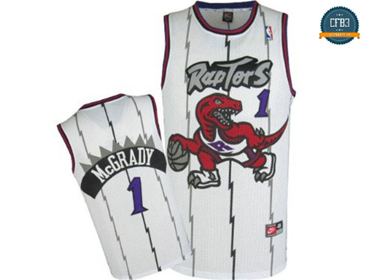 cfb3 camisetas Tracy McGrady, Toronto Raptors [Blanca]